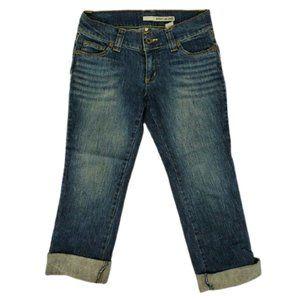 Dkny Jeans Women's Cuffed Capri Pants Size 5 Blue